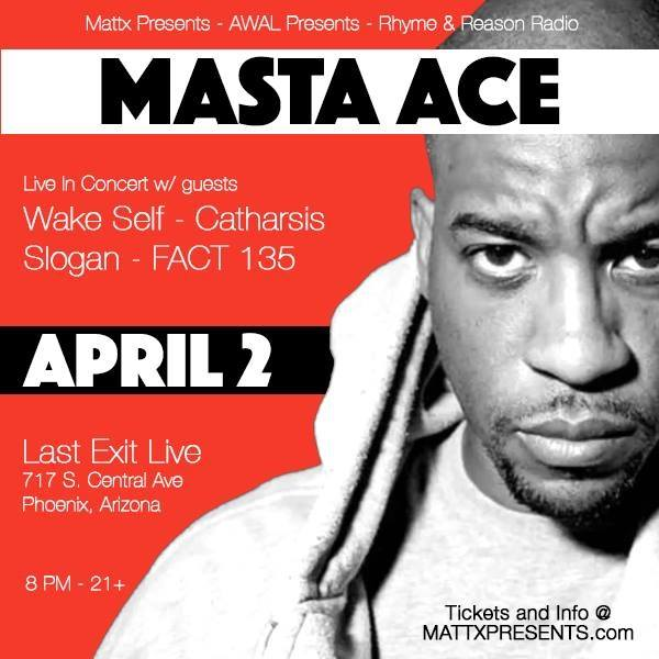 Masta Ace Tonight in Phoenix
