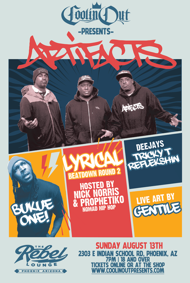 Artifacts with Bukue One and Lyrical Beatdown!