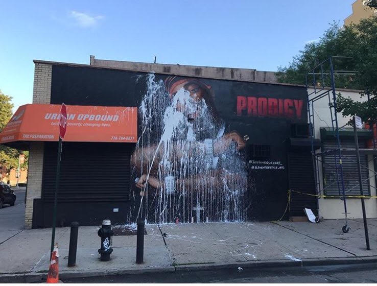 Prodigy Mural defaced.