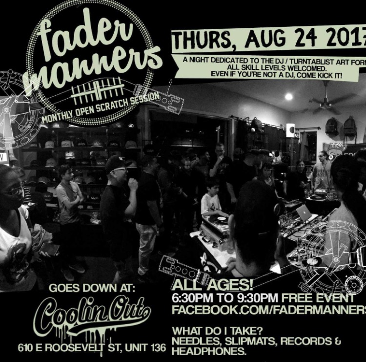 Fader Manners Aug. 24th – Coolin Out Hip Hop Shop